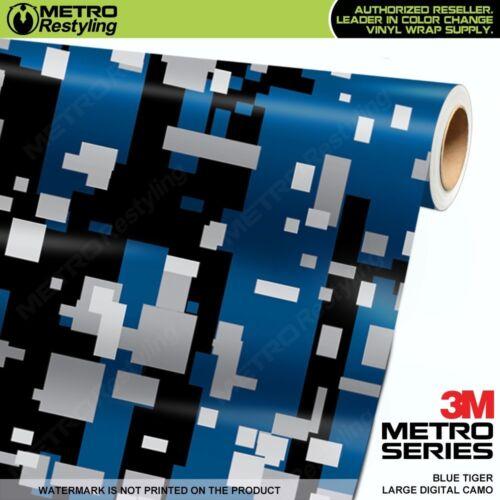 LARGE DIGITAL BLUE TIGER Camouflage Vinyl Car Wrap Film Sheet Roll Adhesive