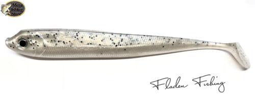Fladen Spyder Shad Gummifisch Silver 13cm 15cm 20cm Hecht Zander Heilbutt Dorsch