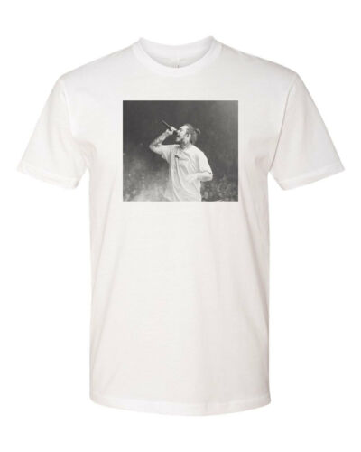 Post Malone Concert Custom Mens T-Shirt Soft Tee S-3XL New-White