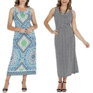 MILLERS-Maxi-Dress-Plus-Size-12-14-16-18-20-22-Black-Blue-Paisley-Long