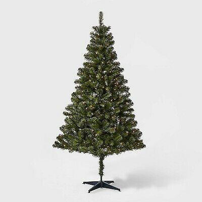 6ft Prelit Artificial Christmas Tree Rose Gold Slim Alberta Tinsel Clear Lights For Sale Online Ebay