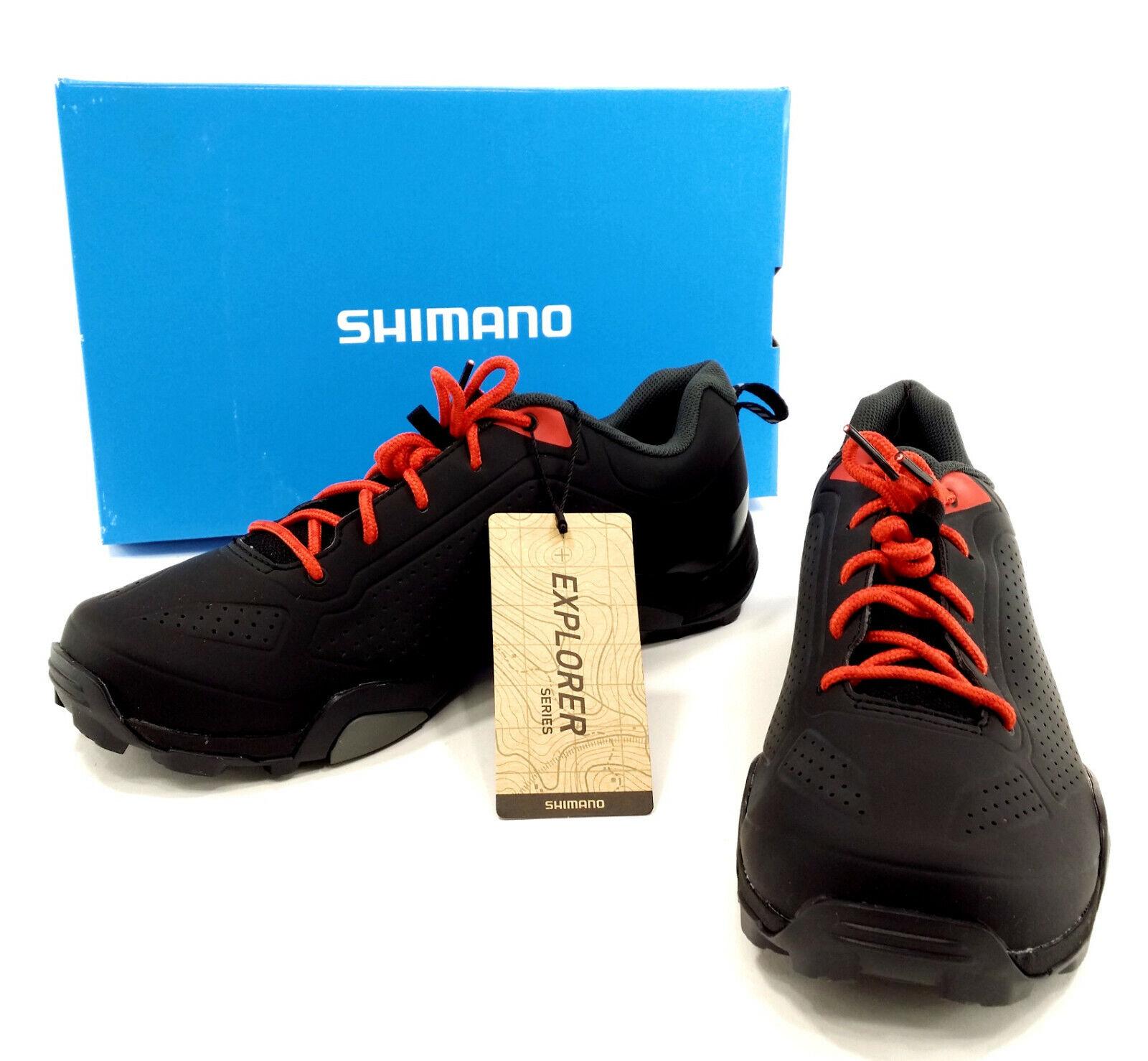 Shimano SH-MT3 Mountain Bike shoes, Red - Men's US 6.7,