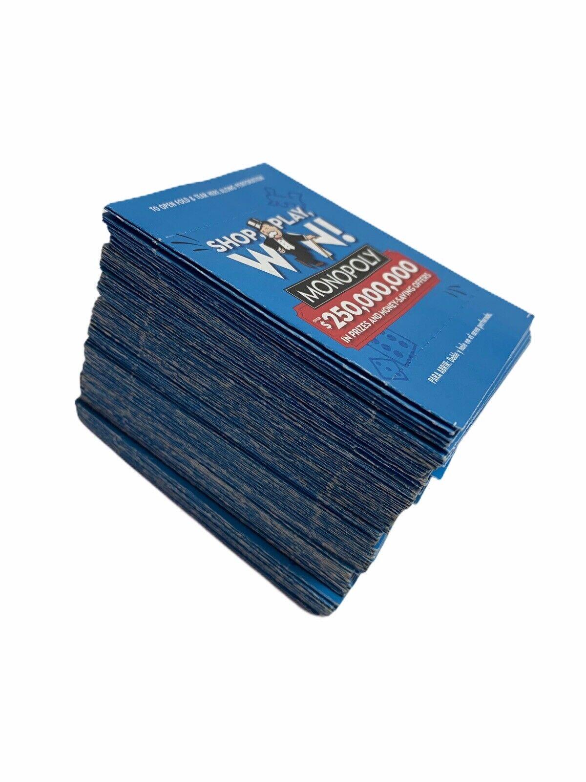 100 Monopoly Tickets Unopened Safeway Albertsons Vons 2017 For Sale Online Ebay