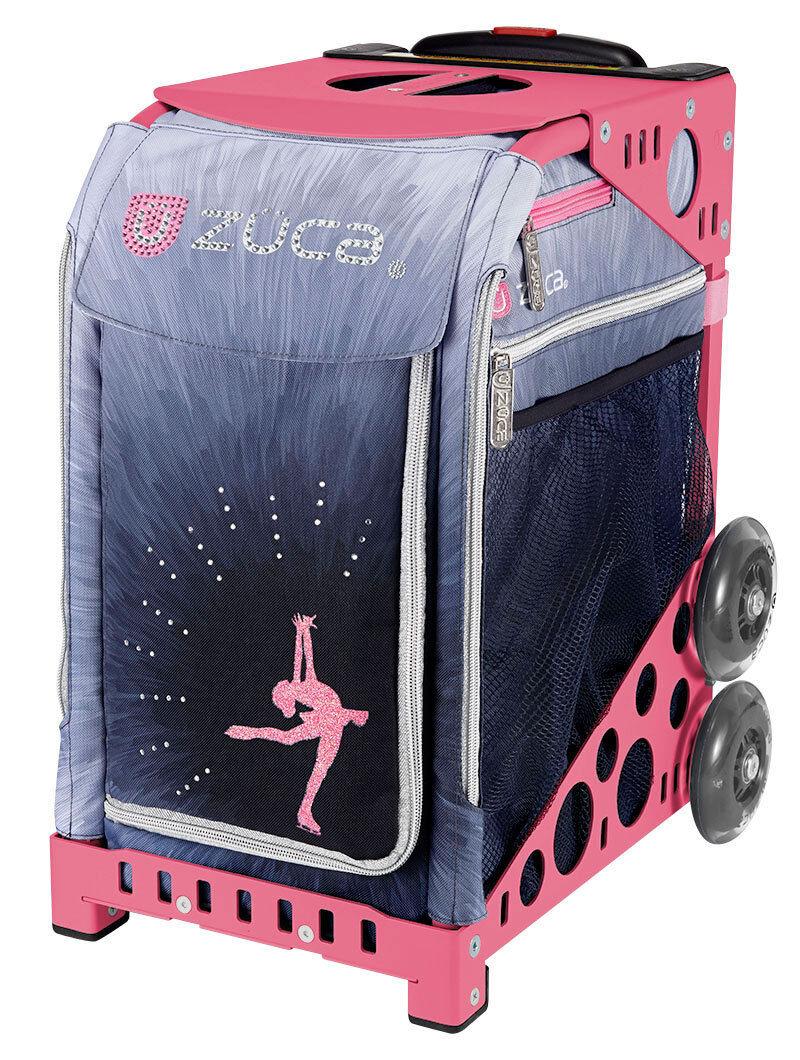 ZUCA Bag Ice Dreamz LUX Insert & Pink Frame w Flashing Wheels- FREE SEAT CUSHION