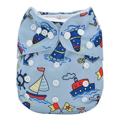 NEW Alva Baby Regular One size Reusable Pocket Cloth Diaper Nappy+1Insert YA126