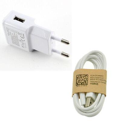 EU Plug White For Samsung Galaxy S4 Micro USB Data Cable+ Home MGAC Wall Charger