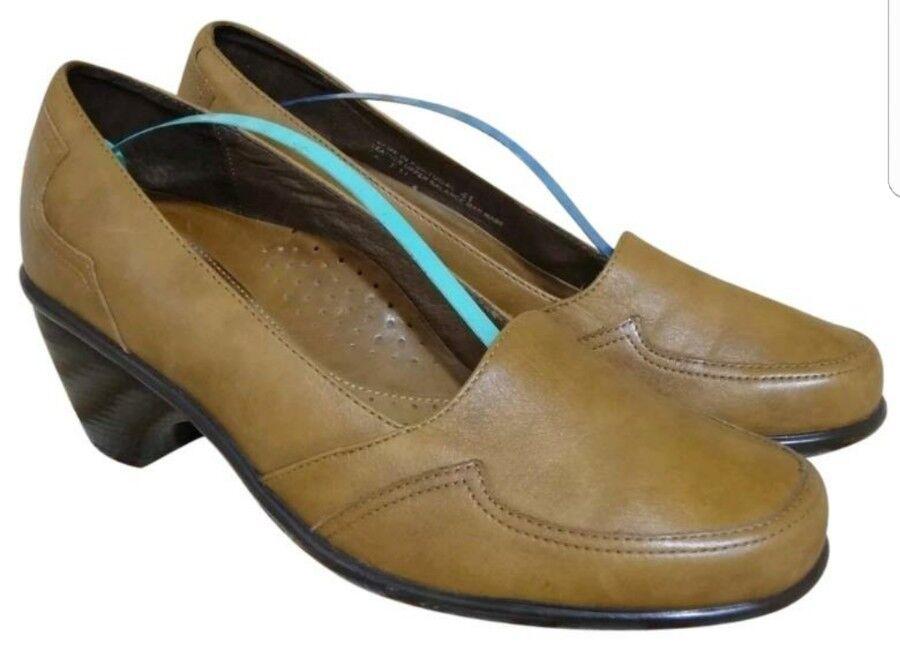 Taille EUR 41 US 10.5 DANSKO  chaussures femmes tan LEATHER PUMPS LOAFERS  EUC