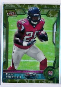 TEVIN-COLEMAN-2015-Topps-Chrome-Rookie-CAMO-REFRACTOR-499-Falcons-RC