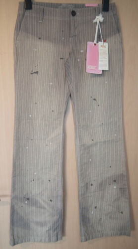 Pantaloni Striped 28 Brown New donna Mogul Calssy Gr Label da modello rnFxzrwq61