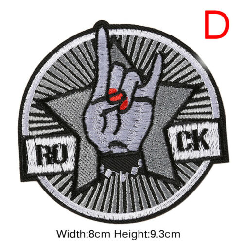 Embroidery Patches Sew On Iron On Badge Applique Bag Craft Sticker Transfer DIY