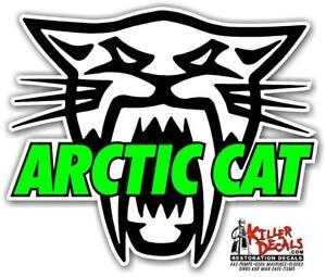 "(arct-1) 6"" Arctic Cat Snowmobile Windshield Decal Sticker"