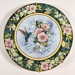 Royal-Doulton-The-Rivoli-Hummingbird-Plate-8-034-Fine-Bone-China-Franklin-Mint