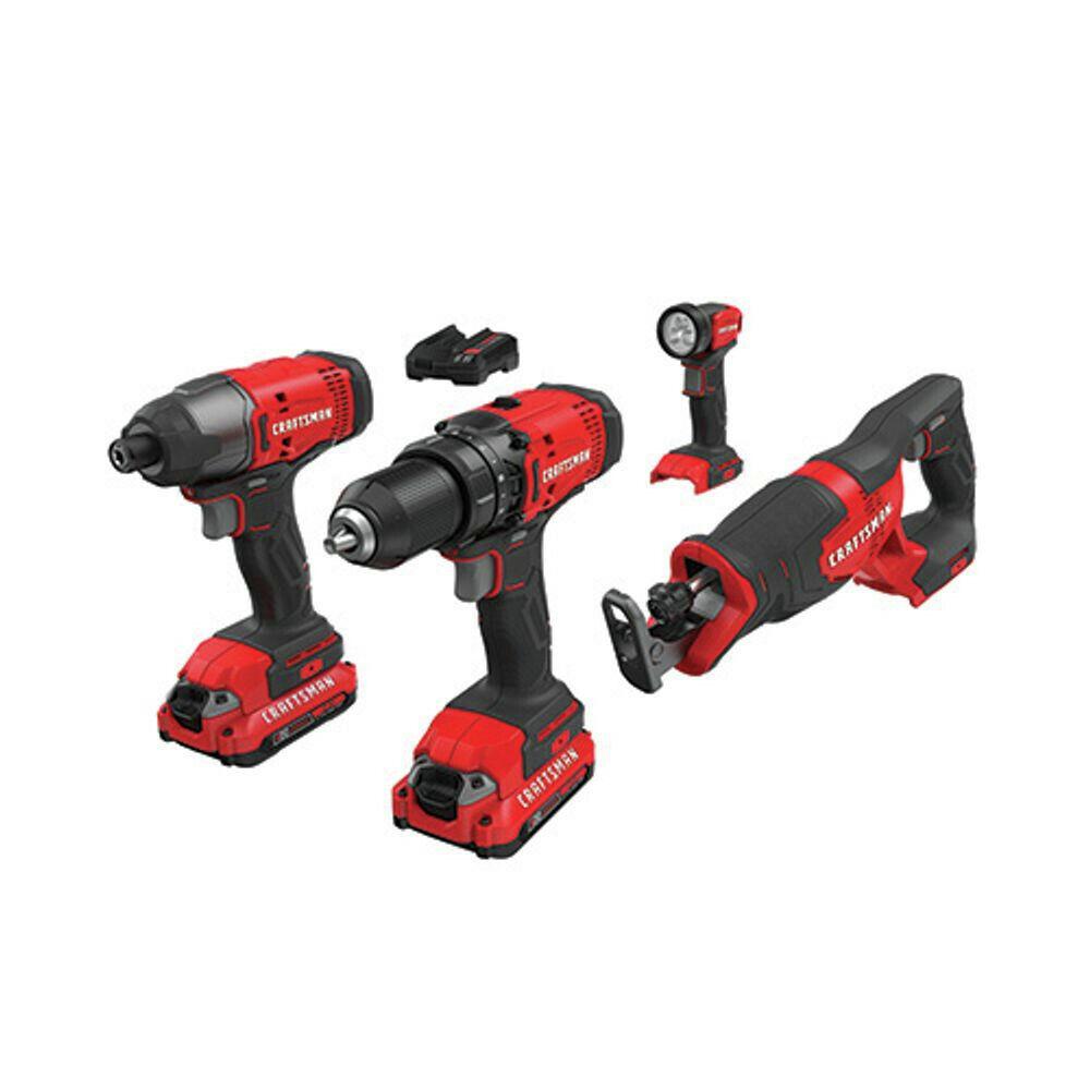 <strong>Craftsman CMCK400D2R 20V Li-Ion 4-Tool Combo Kit </strong>