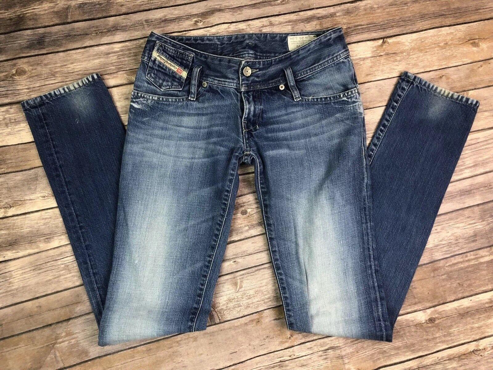 225 Diesel Matic Slim Tapered Women's 25 Slim bluee Skinny Straight Low Jeans