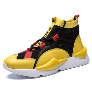 Men-039-s-Fashion-Athletic-Sneakers-Casual-Running-Sport-High-Top-Basketball-Shoes
