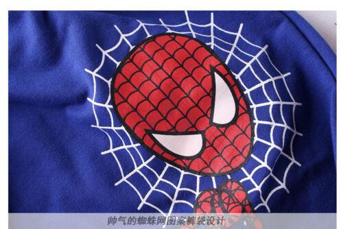 2PCS NEW Baby Boys long sleeve Spiderman Tops+Pants Set Kids Casual Clothes 02#