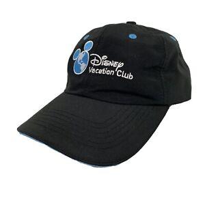Disney-Vacation-Club-Member-Golf-Hat-Adjustable-Black-Baseball-Cap-Strap-Back