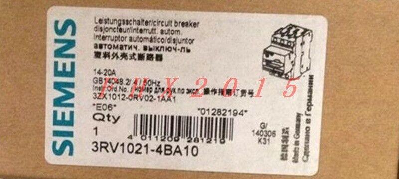 Brand NEW Siemens circuit breaker 3RV1021-4BA10 3RV10214BA10