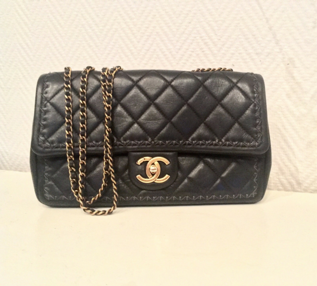 Crossbody, Chanel, kalveskind, Chanel single flap i…