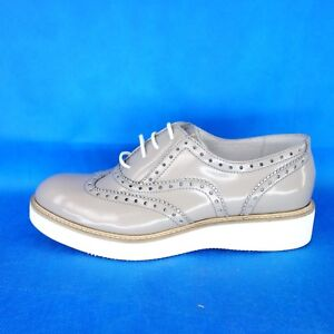 Billi-Bi-Sports-Ladies-Loafers-Low-Shoes-4841-37-38-Grey-Leather-Np-149-New