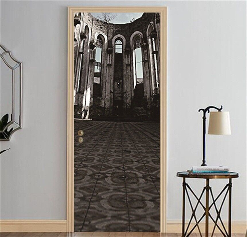3D Building 59 Wall Stickers Vinyl Murals Wall Print Deco AJSTORE UK Kyra