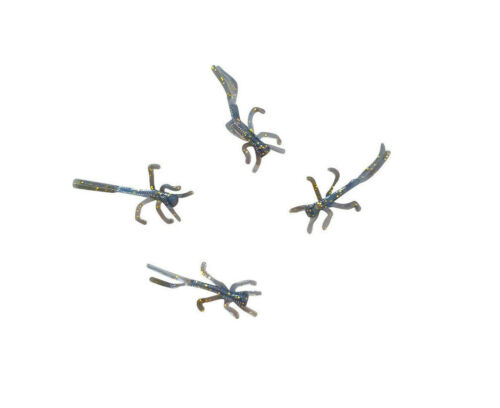 """15 pack of 5//8/"""" BLACK GOLD soft plastic MICRO NYMPHS for trout crappie panfish"""