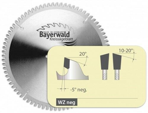 HM Kreissägeblatt - Ø 250 mm x 3,0 mm x 30 mm   WZ negativ (48  Zähne)