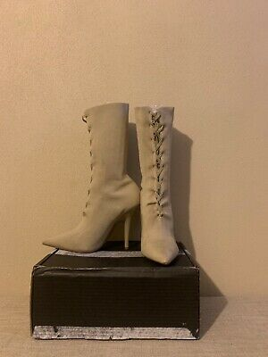 boots women size 8.5 Authentic Beige | eBay