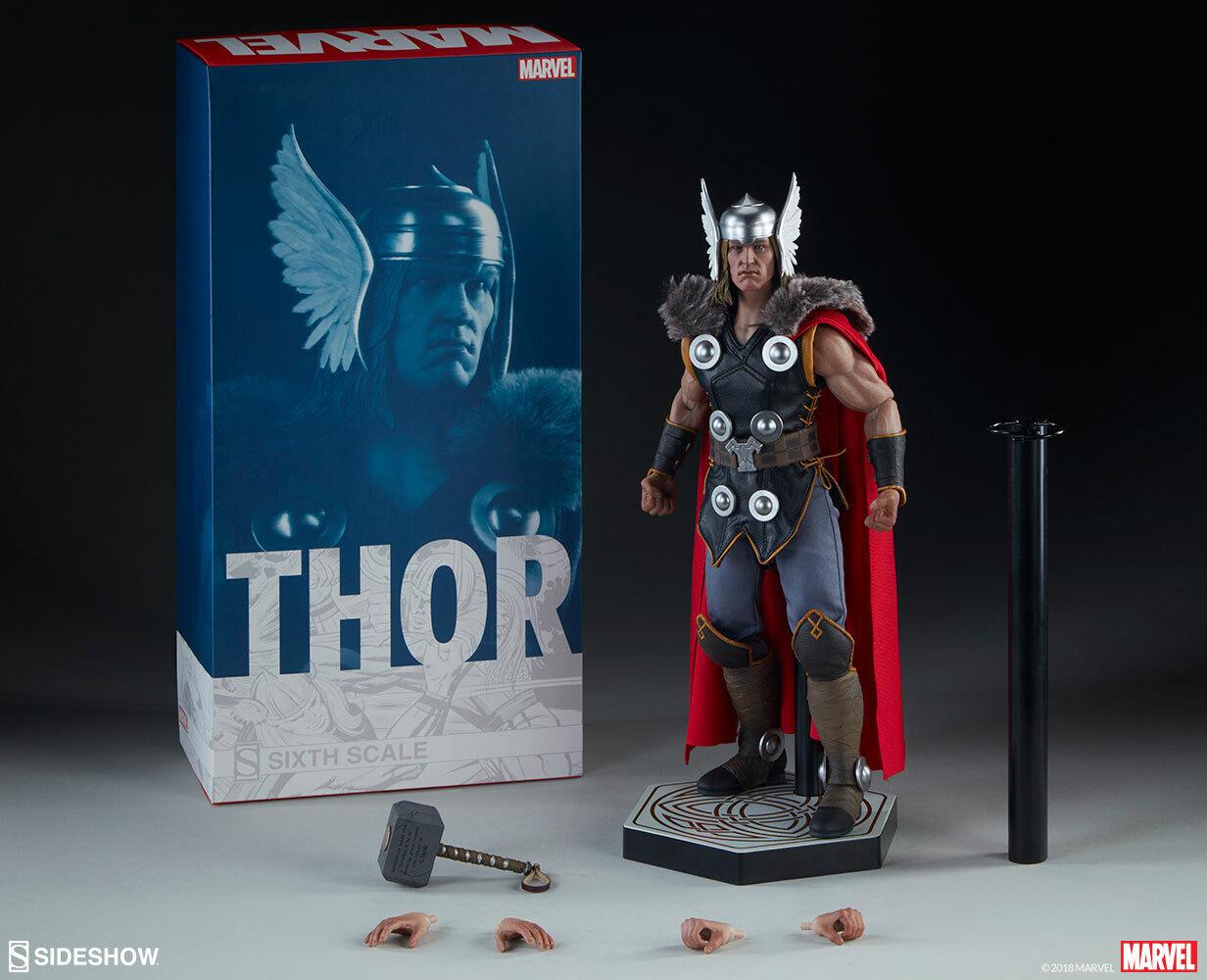 la mejor selección de SIDESHOW MARVEL Classic Thor 12    figura de escala 1 6  colores increíbles