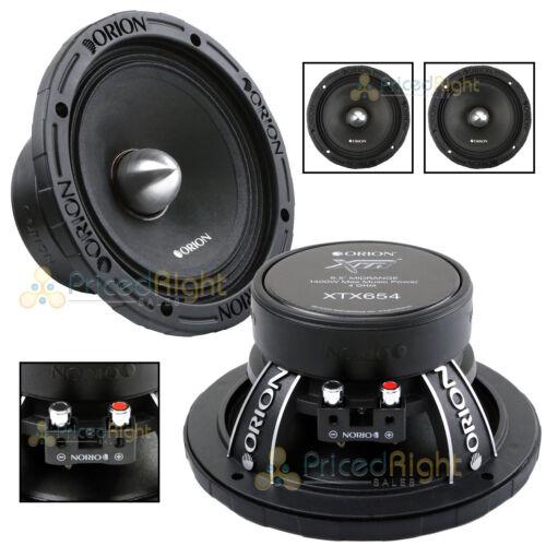"2 Orion Audio 1400 W Watt 6.5/"" Mid Range Bass Loud 4 Ohm Speakers Pair XTX654"