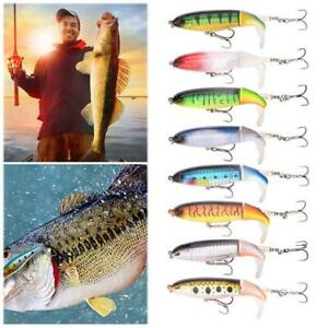 13G//10CM Fishing Topwater Lures Fishing Lure Rotating Bait Pike Tail Tackle