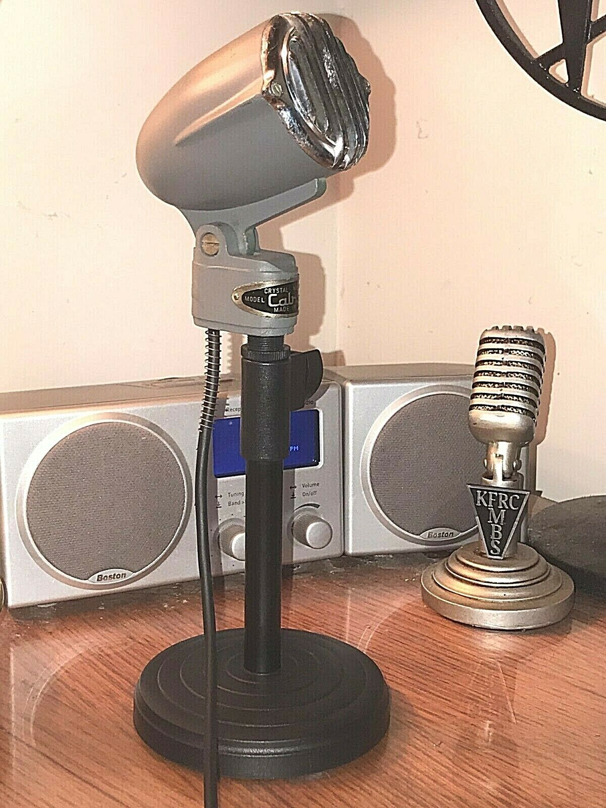 Vintage 1960's CALRAD 400C Dynamic Microphone with stand & upgraded pickup