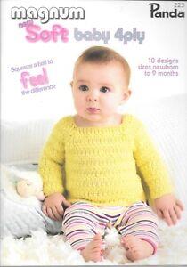 1c2038bb61b Details about Panda 223 baby knitting pattern book NB-9m 4ply jumper  cardigan boy girl magnum