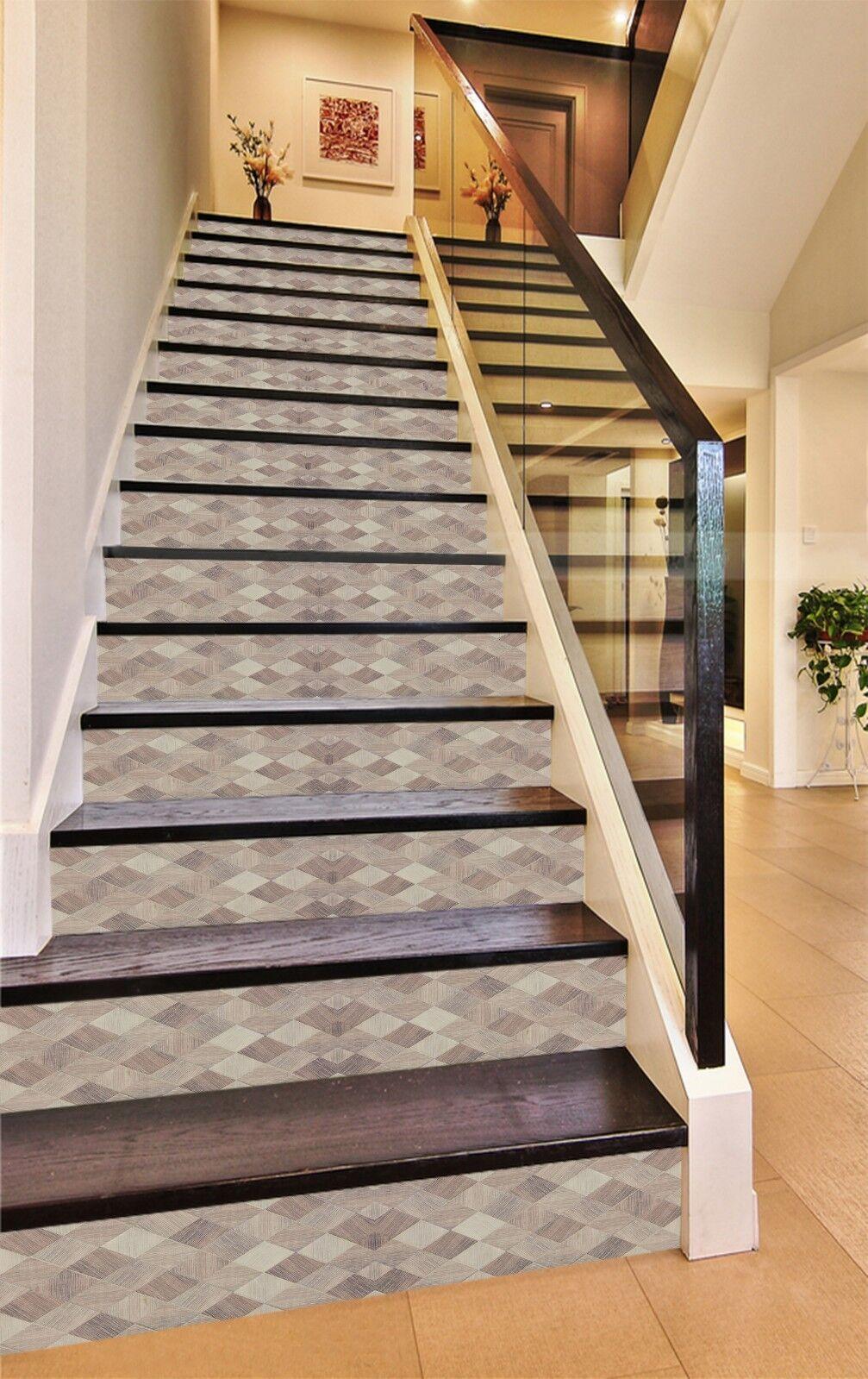 3D Geometrisches Muster 1 Fliesen Marmor Stair Risers Vinyl Tapete Fototapete DE