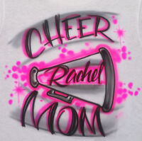 Airbrushed Personalized T-shirt Cheer Mom Chearleader Sizes 2t - 3xl