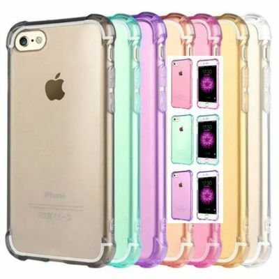 Shockproof Tough iPhone 5 SE 6S 8 / 7 Plus X Soft Gel Clear Case Cover for Apple