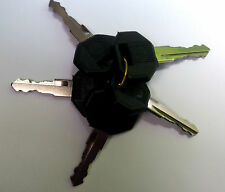 5 black top jcb keys  metal - 14603 - 14607 - 14707 - 14657 spare jcb key digger