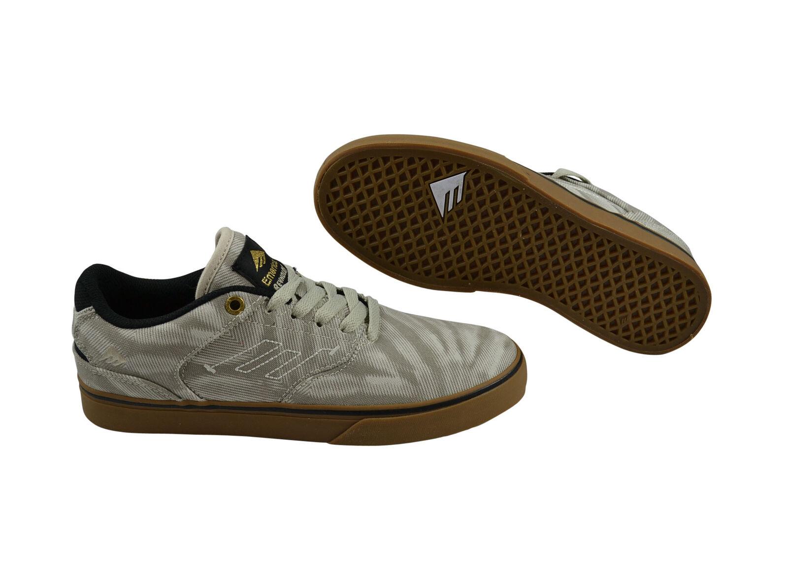 Los zapatos más populares para hombres y mujeres Emerica the Reynolds low vulc tan/Gum skater zapatos/cortos