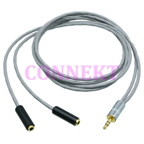3.5mm stereo TRS plug to female 1M2F splitter Cable Cord L-2B2AT Audio Aux