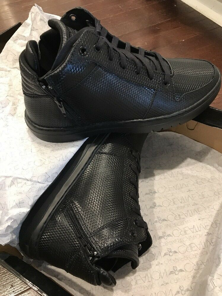 Creative Recreation Men's High Top Black Adonis Mid Leather Fashion Sneakers 9.5
