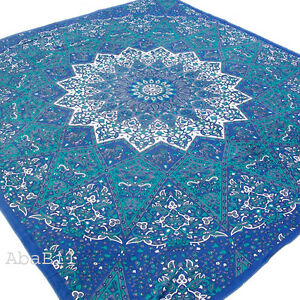 Indian-Star-Queen-Mandala-Tapestry-Hippie-Wall-Hanging-Bedspread-Mandala-Throw