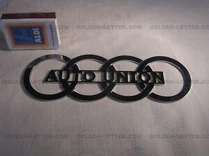 Auto Union Logo Metal New Guaranteed To Last A Lifetime Qau