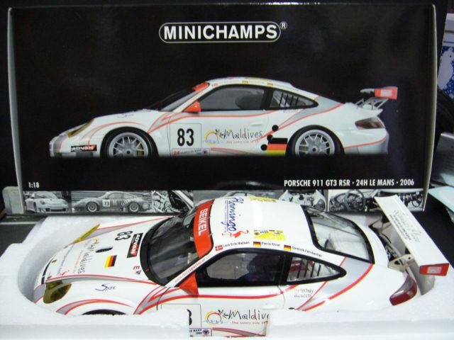Porsche 911 996 gt3 rsr Le Mans 1996  83 seikel fahrnbacher Niel Minichamps 1 18