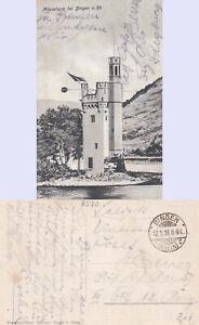 Feldpost-BINGEN-12-5-18-AK-Maeuseturm-Bedarfserhaltung-stampsdealer