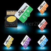 BESTRUNNER 8GB TF Secure Digital High Speed Flash Memory Card Class10 Multicolor