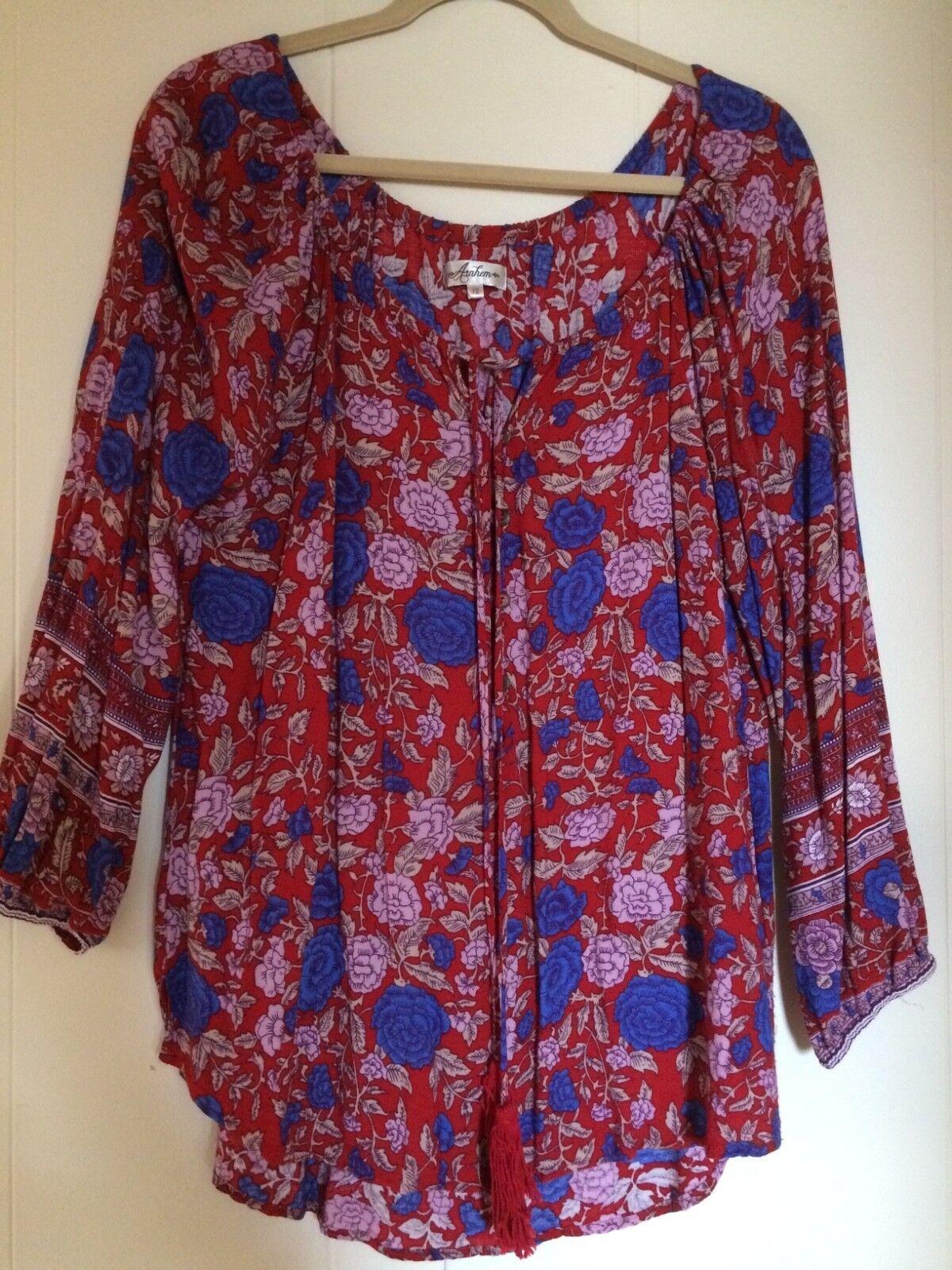 Woherren Arnhem Spanish Rosa tunic Scarlett blouse Größe AU12 US8