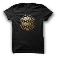 Sacred Geometry Mens Geometric Tshirt Festival Clothing Mandala Flower of Life