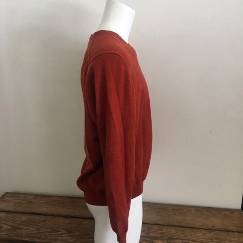 lana Xl de Brothers fino v con mezcla Brooks Bros merina naranja punto en para de suéter hombre cuello wqnAI7f