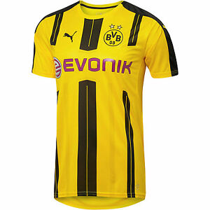 a5057c9cf38 Details about Puma BVB Borussia Dortmund 2016 - 2017 Home Soccer Jersey New  Yellow / Black