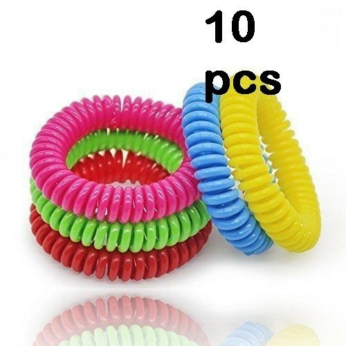 Anti Mosquito Bug Repellent Wrist Band Bracelet Insect Nets Lock Camping 10 Pcs Ebay